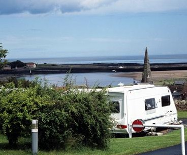 Swinging at seaview caravan site