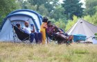 Family camping at Beech Estate Campsite